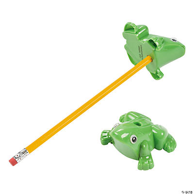 Frog-Shaped Pencil Sharpeners