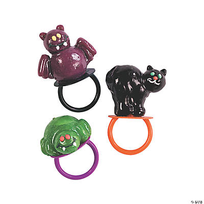 Frosted Halloween Character Ring Pops