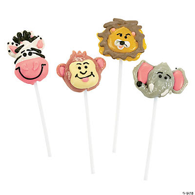 Frosted Jungle Safari Animal Lollipops