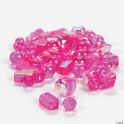 Fuchsia AB Bead Assortment - 8mm-12mm