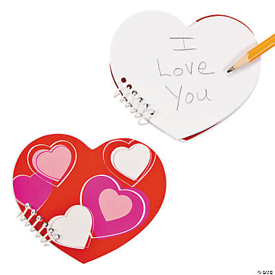 Fun Print Heart-Shaped Spiral Notepads