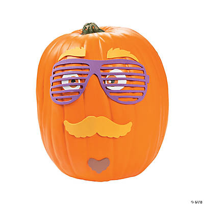 Funny Mustache Pumpkin Decorating Craft Kit