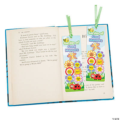 """Garden of Good Manners"" Bookmarks"