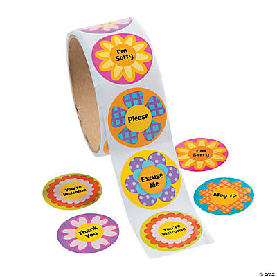 """Garden of Good Manners"" Roll of Stickers"