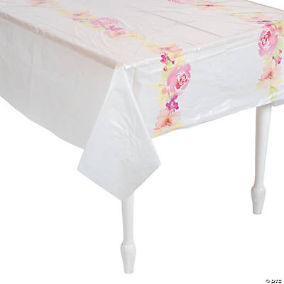 Garden Party Plastic Tablecloth
