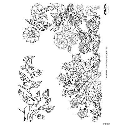Garden Scene Adult Coloring Page Free Printable