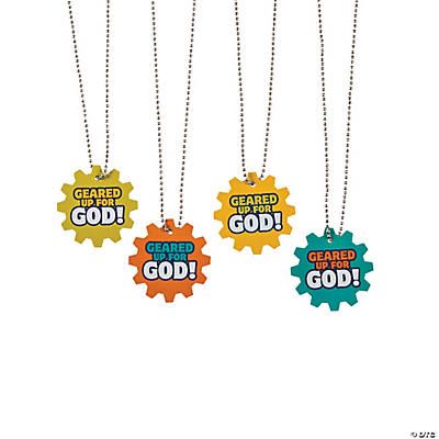 Geared Up for God VBS Dog Tag Necklaces