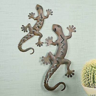 Gecko pair wall art oriental trading discontinued for Gecko wall art