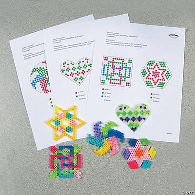 Geometric Shapes Fuse Bead Free Template Idea