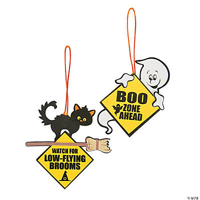 Ghost & Cat Road Signs Craft Kit