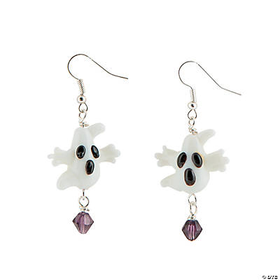 Ghost Lampwork Glass Earring Kit