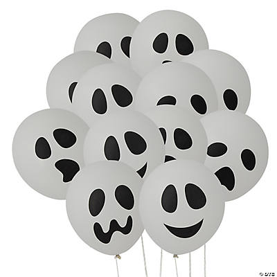 Ghost Balloons Faces Ghost Latex Balloons
