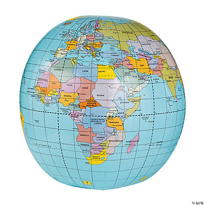 Inflatable Globe World Map. Giant Inflatable Globe Beach Ball