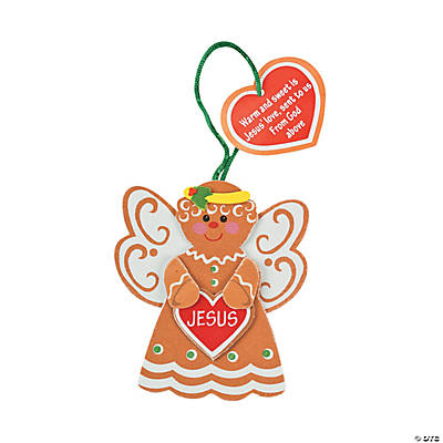 Gingerbread Angel Ornament Craft Kit