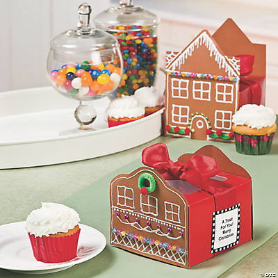 Gingerbread Cupcake Boxes Idea