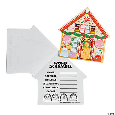 Gingerbread House Die Cut Activity Pads
