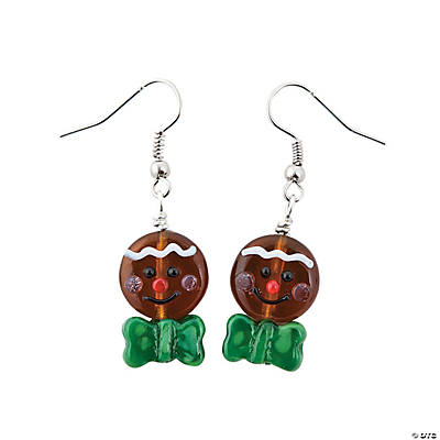 Gingerbread Man Lampwork Earring Kit