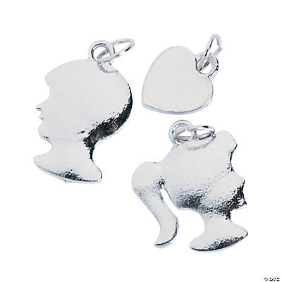 Girl & Boy Silhouette Charms