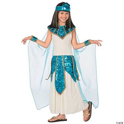 Girl's Blue & Gold Cleopatra Costume