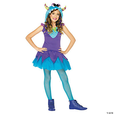 Girl's Cross Eyed Carlie Monster Costume