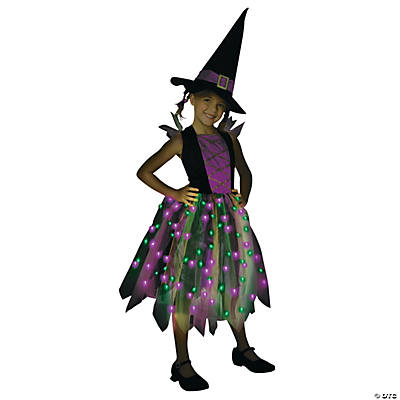 Light-Up Rainbow Witch Costume