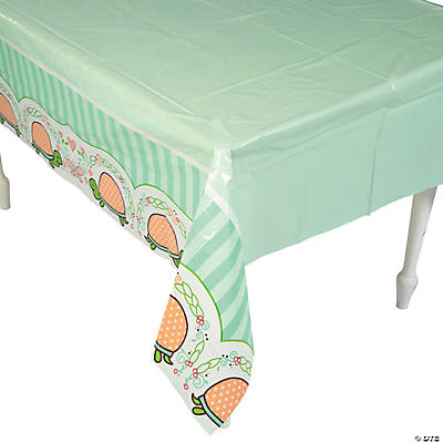 Girl Turtle Plastic Tablecloth