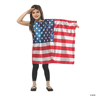 Girlu0027s American Flag Dress Costume  sc 1 st  Oriental Trading & Historical Halloween Costumes | Oriental Trading Company