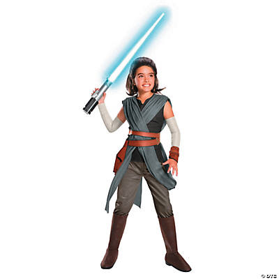 Girl's Delxue Star Wars™ Episode VIII: The Last Jedi Rey Costume - Medium