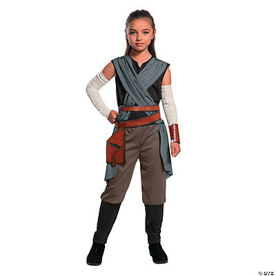 Girl's Star Wars™ Episode VIII: The Last Jedi Rey Costume - Small