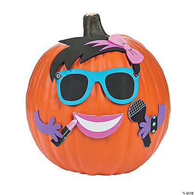 Girly Rockstar Pumpkin Decorating Craft Kit Oriental