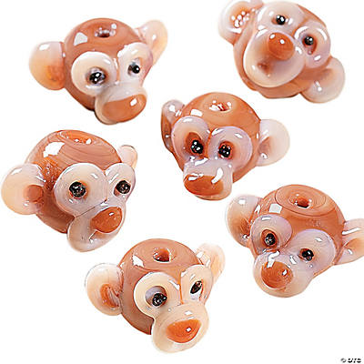 Glass Monkey Beads - 16mm