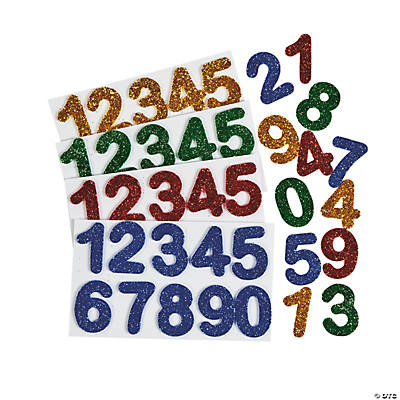 Glitter Adhesive Numbers
