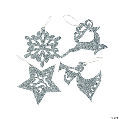 Glitter Art Christmas Ornaments