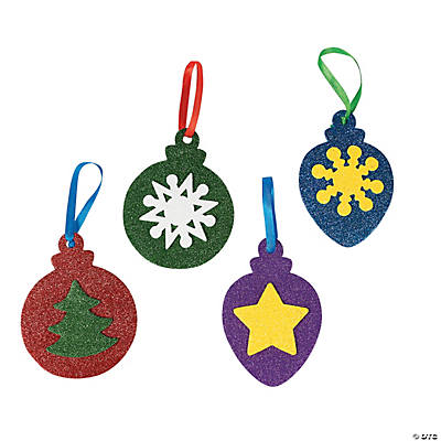 Glitter Christmas Ornaments Craft Kit