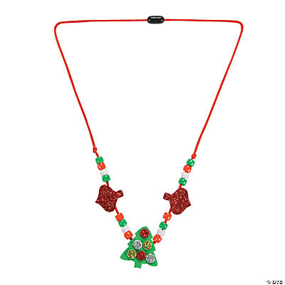 Glitter Christmas Tree Necklace Craft Kit
