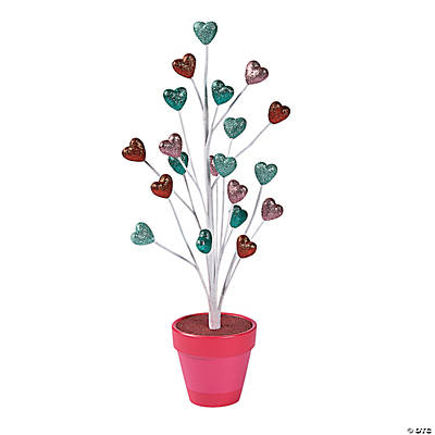 Glitter Heart Tabletop Tree