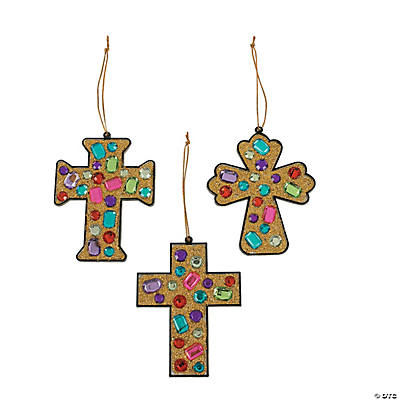 Glitter Jewel Cross Mosaic Craft Kit