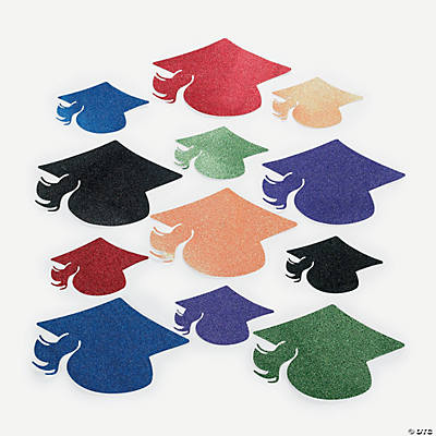 Glitter Mortar Board Cutouts