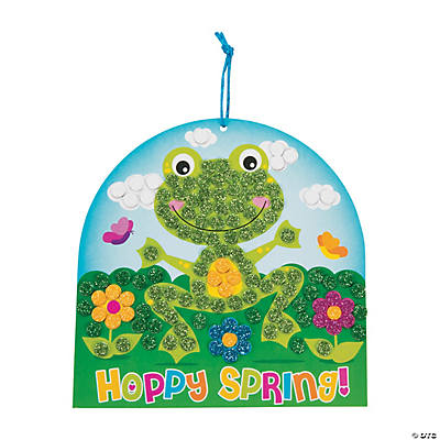 Glitter Mosaic Spring Frog Sign Craft Kit
