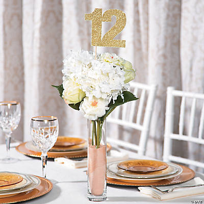 glitter number centerpiece idea