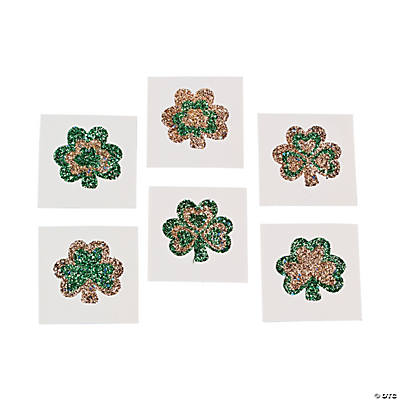 Glitter Shamrock Tattoos