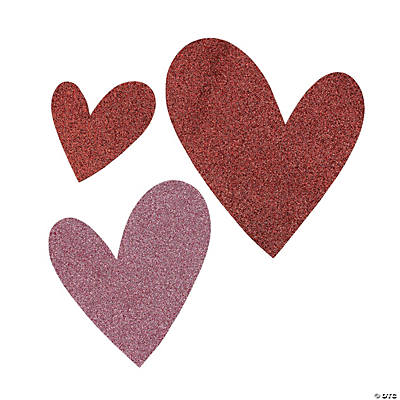 Glittered Heart Decorations