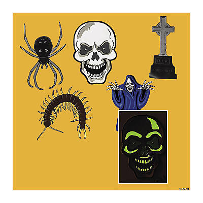 Glow-in-the-Dark Removable Halloween Wall Clings
