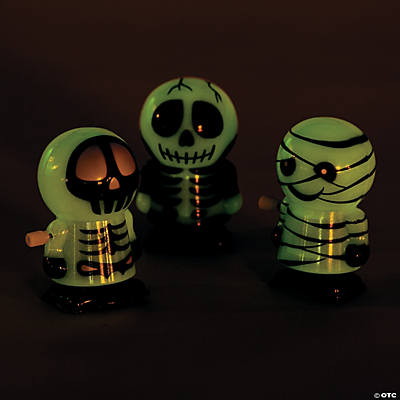 Glow-in-the-Dark Skeleton & Mummy Wind-Ups