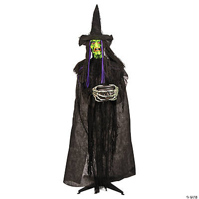 glow in the dark standing witch decoration