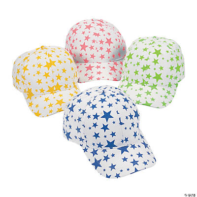 Glow-in-the-Dark Star Baseball Caps