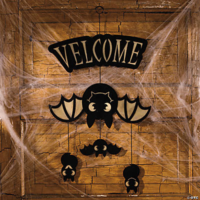 "Glow-in-the-Dark ""Velcome"" Bat Sign"