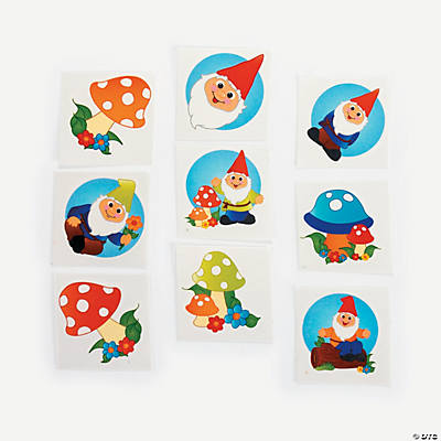 Gnome And Toadstool Tattoos