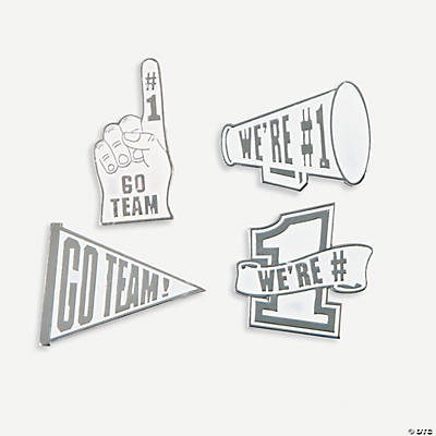 """Go Team!"" Pins - White"