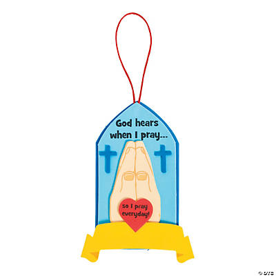 """God Hears When I Pray"" Sign Craft Kit"